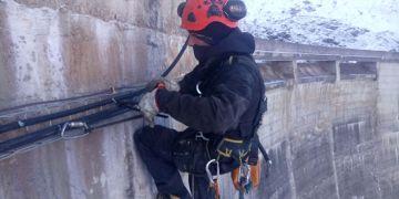 Tirage câble Barrage